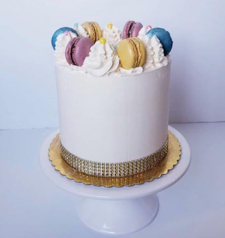 The smoothest buttercream comes by using CakeSafe's Acrylic Disks.
