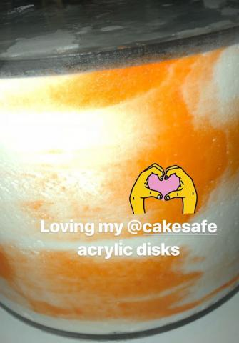 Sweet Cravings Cakery fell in love with icing cakes all over again when she used CakeSafe's Acrylic Disks.