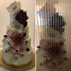 How to move a tiered cake?