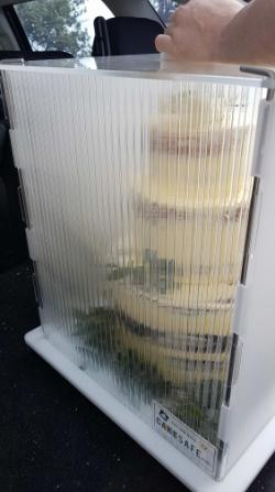 How to move cake in hot weather?