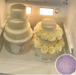 96 degree heat doesn't impact Melissa's cake deliveries. She uses a CakeSafe transportation box.