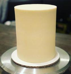 Sharp frosting edges on a cake DIY